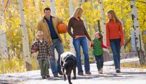family-walk-the-dog