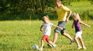 Soccer with dad
