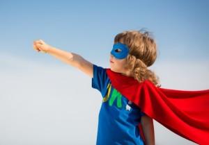 Superhero kid dream