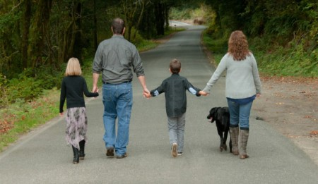 family walking together