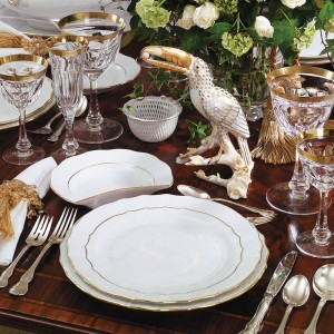 fine china silver dinner setting