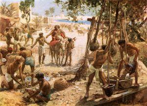 Israelites making bricks in Egypt