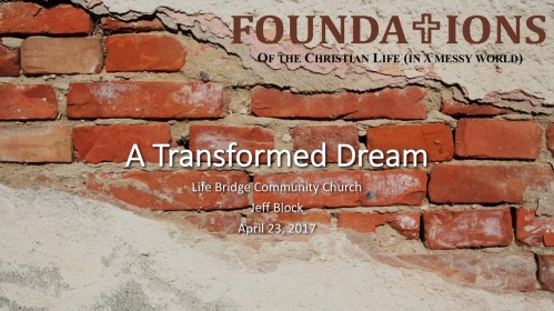 Sermon Slide: A Transformed Dream