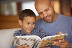 Father Reads to Son